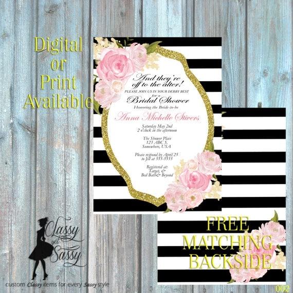 Kentucky Derby theme shower invitation by ClassyYetSassyInvite