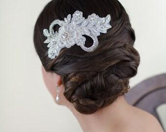 Genevieve Bridal Headpiece, Bridal Comb, Lace Bridal headpiece, Lace Bridal Comb, Wedding Accessories,