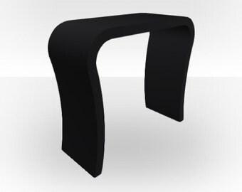 Black Matt Console Table - Curved
