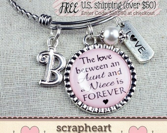 Special Wedding Gift For Niece : Personalized Niece Gift The Love Between an Aunt and a Niece
