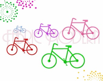 Bicycle Embroidery Design, cycling design, two wheeler, multiple sizes,  #417