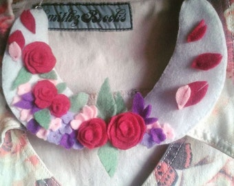 Rose Garden Peter Pan Collar Necklace