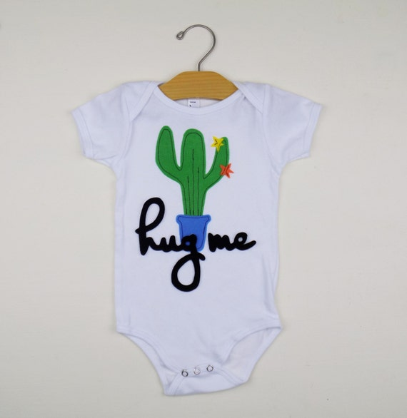 Trendy Baby Gifts : Trendy onesie hipster baby clothes cactus gift