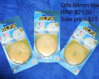 Olfa blades.  60mm.  Circular cutting blade.