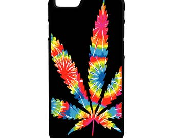 Psychedelic Marijuana Weed Leaf iPhone Galaxy Note LG HTC Hybrid Rubber Protective Case