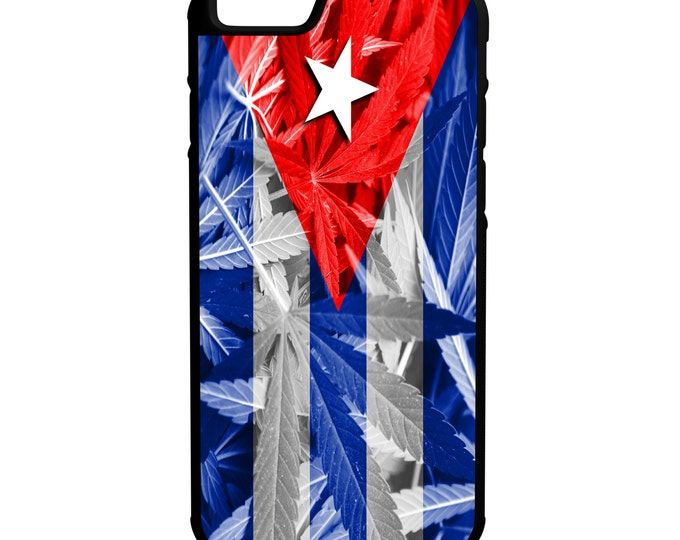 Cuban Weed Flag iPhone Galaxy Note LG G4 Hybrid Rubber Protective Case