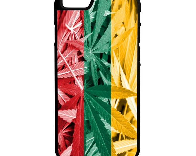 Lithuania Weed Flag iPhone Galaxy Note LG HTC Hybrid Rubber Protective Case