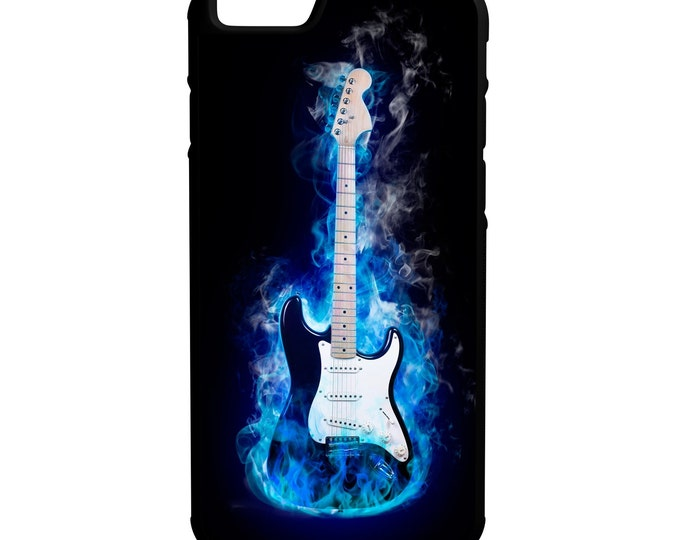 Graphic Guitar iPhone Galaxy Note LG HTC Hybrid Rubber Protective Case