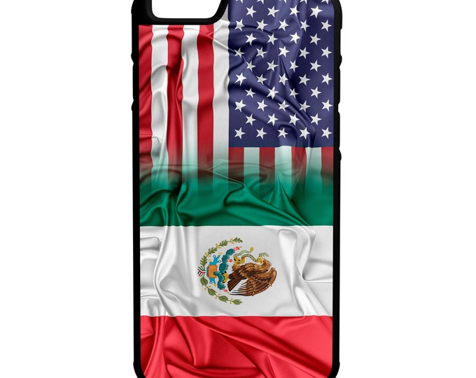 Mexican American Flag iPhone Galaxy Note LG HTC Hybrid Rubber Protective Case Chicano