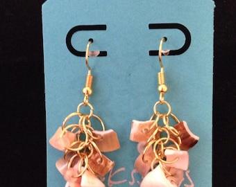 Hawaiian Inspired Shell Cluster Earrings
