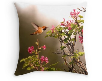 Hummingbird Decor, Hummingbird Pillow, Bird Decor, Hummingbird Cushion, Bird Throw Pillow, Wildlife Cushion, Bird Cushion, Wildlife Pillow