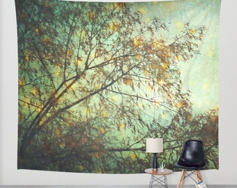 free shipping wall tapestry, large size wall art, wall decor, photo tapestry, tapestry, wall hanging, tree trees branches tapestry, woodland