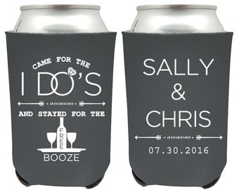custom wedding favors can coolers came for the i dos and stayed for the