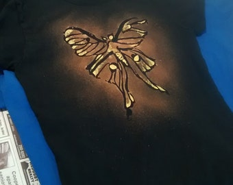 Hand-painted T-Shirts / Lady's Cut (Moth Design)