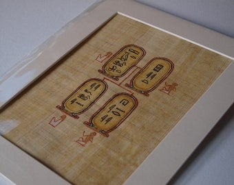 Custom Egyptian Hieroglyph Name FAMILY TREE Painting - real papyrus!
