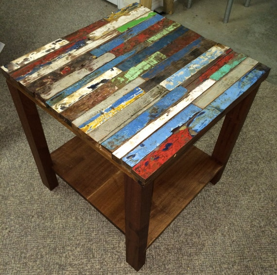 Reclaimed Boat Wood Coffee Table: Items Similar To Reclaimed Bali Boat Wood End Table