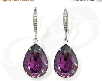 Bridesmaid Earrings Purple Earrings Amethyst Earrings Bridal Jewelry Bridesmaid Jewelry Bridal Jewelry Wedding Earrings Bridesmaid Gift