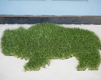 Buffalo Synthetic Grass Doormat | Rug | Wall Art Decor