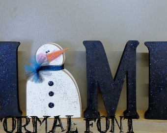 Seasonal Decor, Home letters with interchangeable O, Formal Font