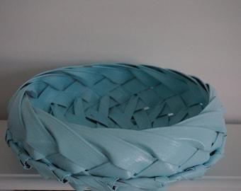 SET of 2 woven AQUA CANE baskets