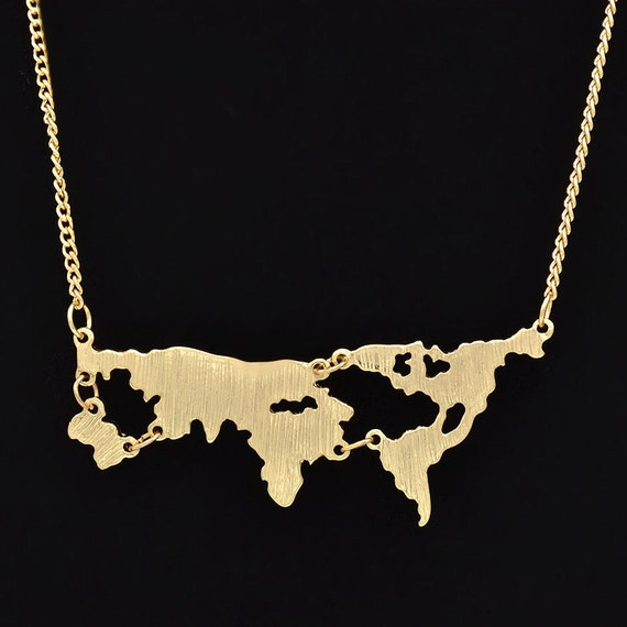 World Map First Theory The world Was Flat Pendant