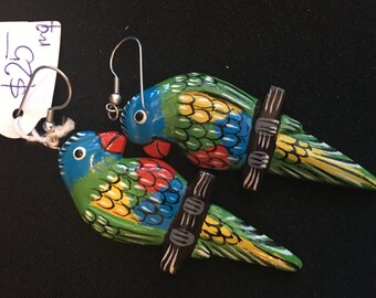 Parrot earrings vintage