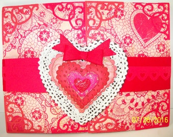 Double valentine shutter card