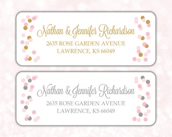 Return address labels (30) - Return address sticker - Adress labels - Wedding return address labels - Gold address labels (AW006)