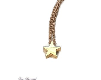 Gold star necklace, tiny star necklace, minimalist jewellery, gift for her