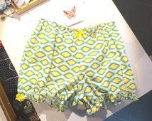Women Bloomers in cotton, printed fabric sunshine / Hot pants / Homewear / Lingerie / Gift for her / Women gift / Bloomers / Nightwear