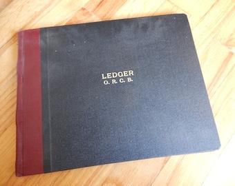 Antique Unused Railroad Railway Conductors Brakemen Ledger Book