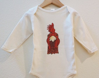 Rooster Organic Made in the U.S. Onesie