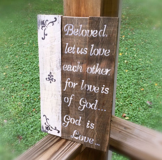 In Love God Each Other: Items Similar To God Is Love, Love Each Other Pallet Sign