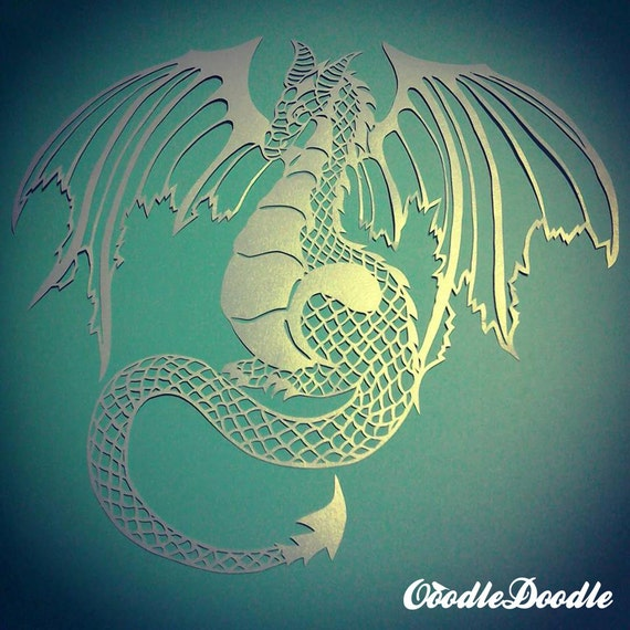 Papercut template dragon personal use papercut by ooodledoodle for Chinese paper cutting templates dragon