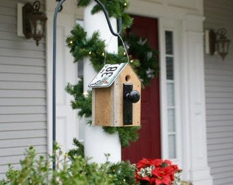 Rustic birdhouse perfect for home or garden -- see The Avian Architect shop page for more styles.