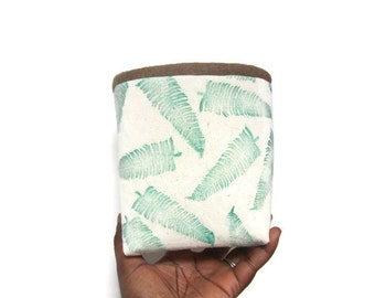 Fabric bin, Fabric basket, Fabric bucket, Block printed canvas fabric basket, Block printed canvas fabric bin
