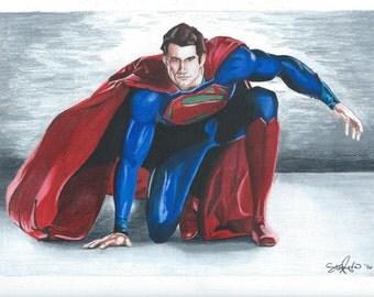 Man of Steel Superman Drawing