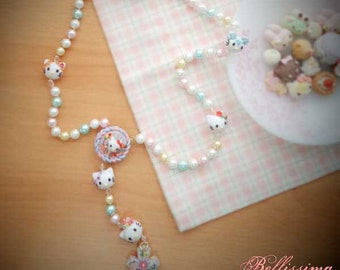 Handmade Rosary in Polymer Clay - Hello Kitty