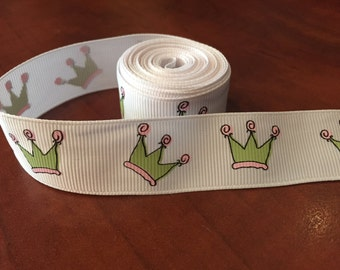 Crown Grosgrain Ribbon, 7/8 inch wide - purchase by the yard