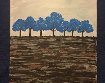 24x20 Blue trees 2015