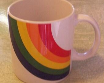 Vintage FTDA rainbow china mug