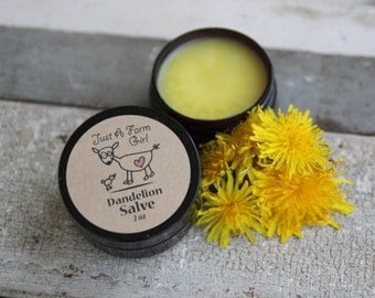 Dandelion Salve natural sore muscle relief
