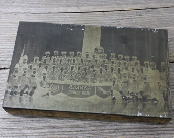 Lykens High School marching band photo printer's plate. Lykens, PA