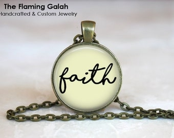 "FAITH QUOTE Pendant •  ""FAITH"" Quote •  Word Inspiration Gift • Gift Under 20 • Made in Australia (P1222)"