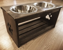 Unique Elevated Dog Feeder Related Items Etsy