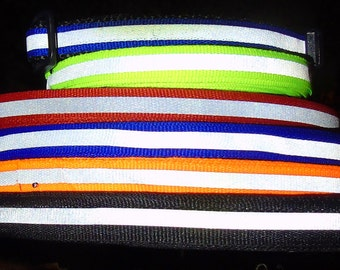 Add reflective trim to pet leash or collar