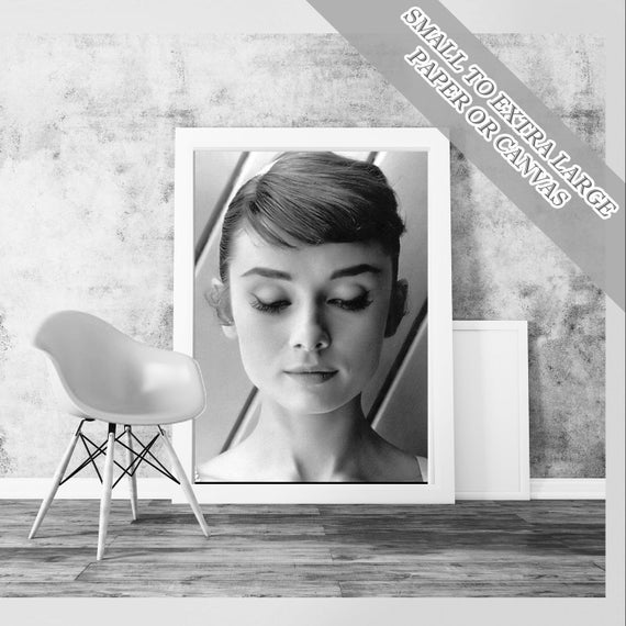 Audrey Hepburn Classic Art Print Poster By Classyclassicprints