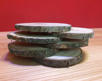 round coasters made from wood cherry
