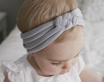 Light Gray sailors knot headband
