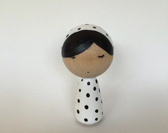 Kokeshi doll, wooden doll painted